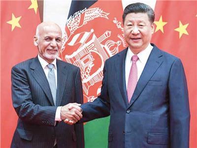 الرئيس الصينى جين بينج ونظيره الأفغانى