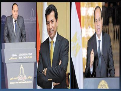 الرئيس عبد الفتاح السيسي  - د. أشرف صبحى  - أحمد جلال