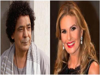 الفنانة يسرا  ومحمد منير