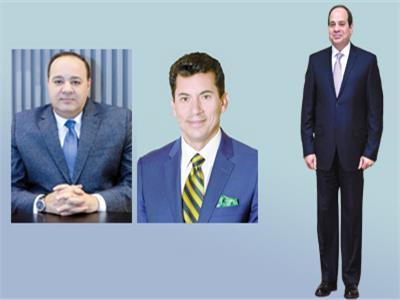فخامة الرئيس السيسي  -   د.أشرف صبحى -  الكاتب الصحفي الكبير أحمد جلال