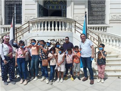 تنشيط السياحة تنظم زيارة لمجموعة من أبناء الموسسات الخيرية لمتحف المجوهرات