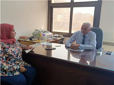 محررة بوابة أخبار اليوم مع مدير عام الأسرة والطفولة بالتضامن
