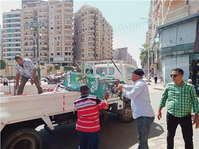 ضبط 698 حالة إشغالطريق بشوارع مدينه دمنهور