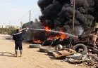 حريق هائل بجراج شركة الأهلية للأسمدة بالمنوفية