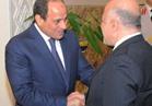 """السيسي لـ""""العبادي"""": دعم مصري كامل لوحدة العراق وسلامته الإقليمية"""