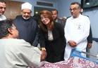 غادة والي تزور مصابي الشرطة بمعركة الواحات..والمصابون: سنعود للثأر من الإرهابيين