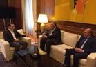 وزير الخارجية يلتقي رئيس الوزراء اليوناني لتقديم العزاء في شهداء الواحات
