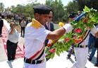 «حرحور» يضع أكاليل الزهور على قبر الجندي المجهول بالعريش