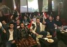 صورة| المصريون في أوكرانيا يشاهدون مباراة الفراعنة والكونغو
