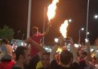 الألعاب النارية تضئ سماء شرم الشيخ احتفالا بالتأهل لكأس العالم