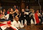 صور| أحضان وزغاريد الفنانين بعد صعود مصر لكأس العالم