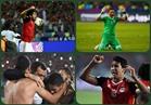 لقطات مؤثرة للاعبي الفراعنة من ملعب «برج العرب»