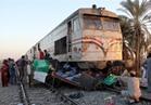 رفع آثار حادث قطار شبين القناطر بعد اصطدامه بسيارة وخروجه عن القضبان
