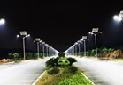 إنارة طريق القاهرة السويس المواجه لمدينة بدر بكشافات الليد