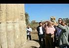 وزير الآثار ورئيس جامعة عين شمس يتفقدان موقع الحفائر بالمطرية