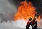 عاجل  حريق هائل في محطة كهرباء بسوهاج