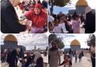 فيديو| الفلسطينيون يحتفلون بالمولد النبوي داخل «الأقصى» بالحلوى والزينة