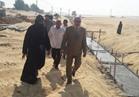 رئيس مدينة ملوي بالمنيا يتابع أعمال إنشاء سور دير أبو فانا