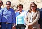 وزيرة التضامن ورئيس البنك الدولي تشهدان الإعلان عن الكشف الأثري بالأقصر