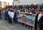 وقفة احتجاجية لأساتذة وطلاب جامعة بورسعيد رفضًا لقرار ترامب
