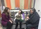 وزيرة التضامن تزور الإعلامية آمال فهمي بمستشفى المعادي للإطمئنان عليها