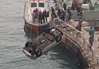 للمرة الثالثة سقوط سيارة من معدية بورسعيد بالقناة ومصرع قائدها