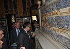 بالصور .. العناني و توماس يتفقدان أعمال ترميم قبة «الإمام الشافعي»