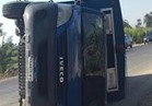 إصابة ضابط وشرطي و 8 متهمين في انقلاب سيارة ترحيلات بالإسماعيلية