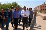 وزير التخطيط تتفقد مشروع إحياء طريق الكباش خلال زيارتها للأقصر