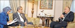 حوار| وزير الخارجية: سعينا لحماية وضعية القدس..وحلفاء أمريكا صوتوا للقرار المصري