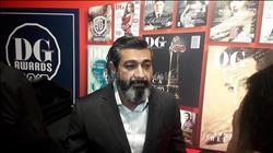 ياسر جلال أول الحاضرين علي السجادة الحمراء في حفل الديرجيست