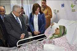 وزير التعليم يزور مصابي حادث الإسكندرية
