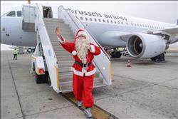 صور| وصول بابا نويل إلى مطار مرسي علم من أوروبا