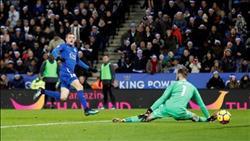 فيديو| جيمي فاردي يسجل هدفه الـ50 مع ليستر سيتي في شباك مانشستر يونايتد