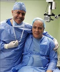 صور .. هانى زادة قبل اجراءه عملية جراحية بالعين