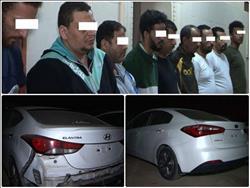 سقوط عصابة سرقة السيارات بالتجمعالخامس