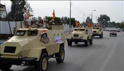 دوريات من القوات المسلحة والشرطة المدنية لتأمين احتفالات أعياد الميلاد بالمحافظات