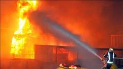 حريق بمصنع كتان بالغربية