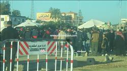 صور| جماهير الأهلي تلتزم بتعليمات الأمن باستاد برج العرب