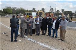 محافظ الاسماعيلية يتابع سير الأعمال بمشروع نفق المشاه أمام جامعة قناة السويس
