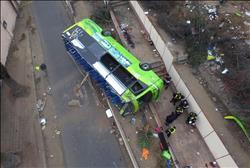 25 قتيلاً على الأقل في حادث تصادم بين حافلة وشاحنة في بيرو