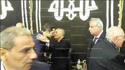 علاء مبارك في عزاء ابراهيم نافع