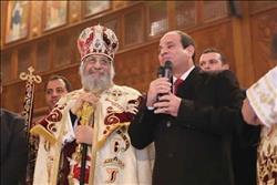 """وفد """"المصريين الأحرار"""" يشارك في احتفال عيد الميلاد بكاتدرائية العاصمة الإدارية"""