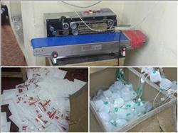 ضبط أكبر مصنع لتصنيع المستلزمات الطبية بالدرب الأحمر