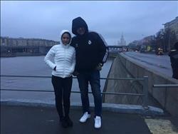 صور| نيللي كريم تبدأ رحلة «اختفاء» من موسكو