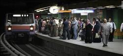 توقف حركة قطارات مترو الخط الثاني