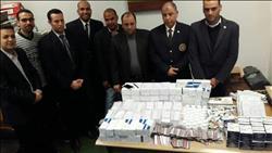 صور| ضبط محاولتى تهريب كمية كبيرة لأدوية بمطار «برج العرب»