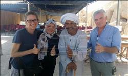 """بالصور : الريس """"علي فاروق"""" من أبرز المكرمين في أعمال الحفائر بالأقصر بعيد الأثريين"""