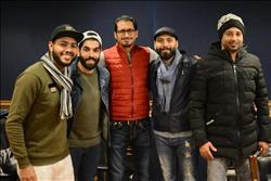 كواليس محمد شاهين وأحمد عيد اثناء تسجيل أغنيه فيلم خلاويص