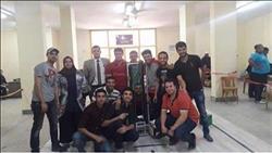 فوز طلاب هندسة بنها بالمركز الخامس على مستوي العالم في مسابقة «الروبوت»